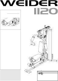 weider 1120 user manual