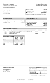 Mortgage Statement Template Excel Mortgage Statement Template Hunecompany Com
