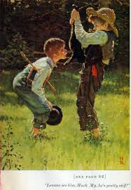 norman rockwell illustrates mark twain s tom sawyer huckleberry sawyer 1