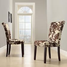 Printed Chairs Living Room Oxford Creek Moo Print Parson Side Chairs Set Of 2 Multi Home