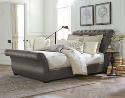 tufted upholstered sleigh bed. Simple Sleigh Waverly Intended Tufted Upholstered Sleigh Bed