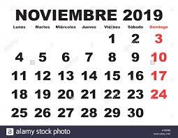 November Through November Calendars November Month In A Year 2019 Wall Calendar In Spanish Noviembre