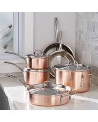 pot sets on sale. Simple Pot Calphalon  TriPly Copper 10Piece Cookware Set Sets Intended Pot On Sale A