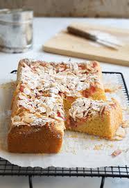 Rhubarb Almond Cake Gluten free Sugary & Buttery
