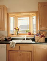 decoration, Simple Wooden Cabinet Above Black Countertop Plus White Double  Sink Near Flowers Closed Amusing. decoration, Casual Kitchen Window ...