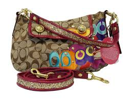 COACH Poppy Glitter Glam Groovy Purse Crossbody Bag E2993