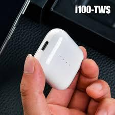 China <b>I100 Tws</b> Wireless Bluetooth Earphones Qi <b>Wireless Charging</b> 1