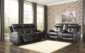 ashley furniture kempten reclining living room set in black 82105 set