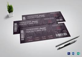 Concert Ticket Layout Stunning 48 Awesome Examples Of Concert Ticket Designs Top Design Magazine