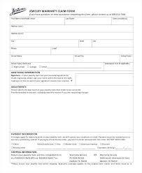 warranty template word warranty claim form template word jewelry wordsmithservices co