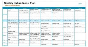 Breakfast Lunch And Dinner Chart Indian Meal Plan Week 6 Breakfast Lunch And Dinner Plan