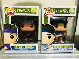 Tennis Funko Pop: Nadal & Federer, Toys & Games, Toys on Carousell