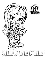 Small Picture Baby Monster High Coloring Pages Baby Cleo by JadeDragonne on
