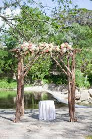 diy rustic wedding arch