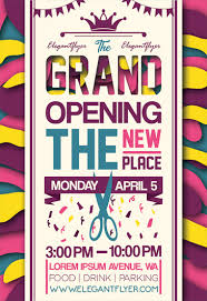 Free Grand Opening Flyer Template Grand Opening Flyer Psd Template By Elegantflyer
