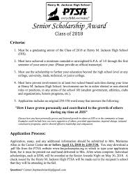 senior scholarships henry m jackson ptsa  picture
