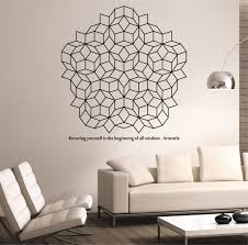 Small Picture Penrose Tiling Wall Decal WITH QUOTE vinyl Sticker Art Decor