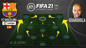 PEP GUARDIOLA'S FC BARCELONA IN FIFA 21 ULTIMATE TEAM (433) CUSTOM TACTICS