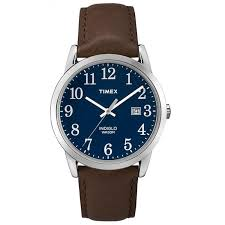 timex easy reader blue dial mens watch tw2p75900
