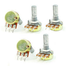 10k potentiometer pots trimmers thermistors b10k 10k ohm adjustment single linear rotary potentiometer 5 pcs lw