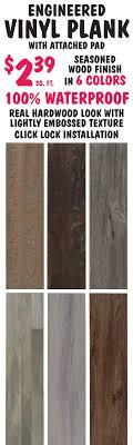 vinyl plank flooring 2 39 sq ft