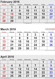 april calendar april 2016 calendars for word excel pdf