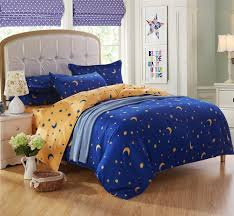 queen king twin bedding bed sets for kids 4 5 pcs star moon bright blue
