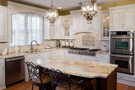 antique white kitchen ideas. Tuscan Antique White Kitchen Cabinets, JennAir Appliances, With Recessed Panel Stained Cherry Island And Warming Drawer \u0026 Microwave. Ideas T