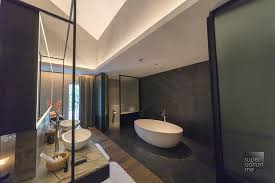bathroom at the riverview suite in the warehouse hotel singapore