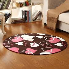 floor mat sweet heart shaped pattern round rug bedside mat colormix 120x120cm