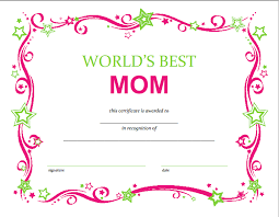 Word S Day Template Free Mothers Day Printable Certificate Free Printable Printable