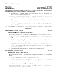 Administrative Assistant Resume With No Experience Virtual