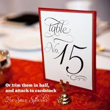 Brand New Numbered Table Tent Cards Ed43