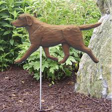 labrador statue chocolate lab statue dog statues and garden statues