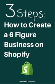 How To Create A 6 Figure Business On Shopify Affiliate