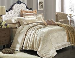 beige comforter set king luxury european gold satin bedding sets 6