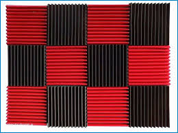 best of 12 pcs acoustic wall foam panels red charcoal soundproof of astonishing blog mlv