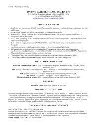 Example Of A Nursing Resume Example Of A Nursing Resume Example