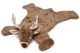 carstens plush white tail deer animal rug small b0049gsr6u