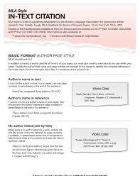 010 Mla Format Template In Text Citation Sample Paper Museumlegs