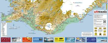 map of south iceland  visit south iceland