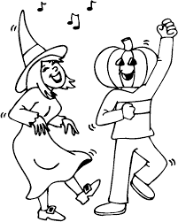 Dancing Kids Halloween Coloring Pages Free Printable Coloring ...
