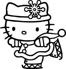 Small Picture Hello Kitty Ice Skating Hello Kitty Coloring Pages Pinterest