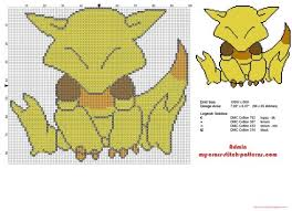 Cross Stitch Chart Generator Abra Pokemon First Generation Number 063 Cross Stitch