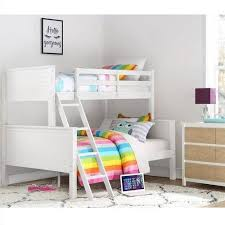 Dorel Home Your Zone Twin Over Full Wood Bunk Bed White Walmart