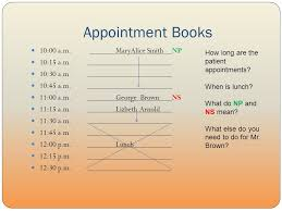 Scheduling Matrix Template Unit 4 Scheduling And Patient Reception Appointment Books