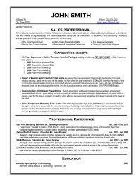 Sales Professional Resume Template Free Templates for Professional Resumes