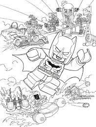 Coloring Page Lego Batman Movie Batman Action Coloring Pages