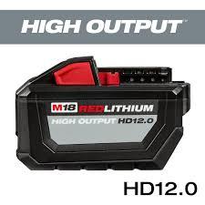 Milwaukee M18 18 Volt Lithium Ion High Output 12 0ah Battery Pack
