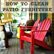 How To Clean Patio Furniture All Kinds